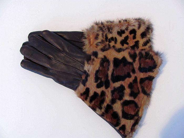 Handschoenen bruin met tijgerprint   HANDSCHOENEN d  h   Megacompany